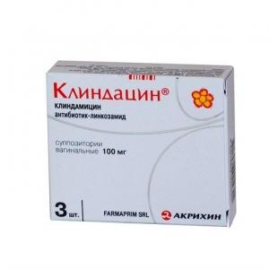 Клиндацин супп.ваг. 100мг. №3