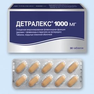 Детралекс табл.п.п.о. 1000мг. №30