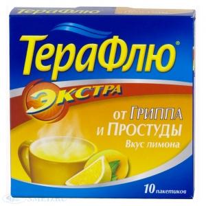 Терафлю Экстра от гриппа и простуды пор. д/пр. р-ра вн. пак. 15г №10 Лимон