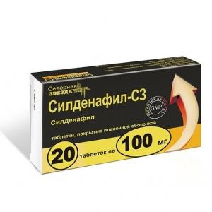 Силденафил-СЗ табл.п.п.о. 100мг. №20
