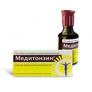 Медитонзин капли д/приема внутрь гомеопат. фл. 35мл.