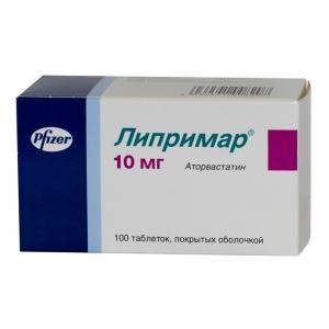 Липримар табл.п.п.о. 10мг. №100