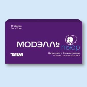Модэлль пьюр табл.п.о. 2мг. + 35мкг. №21