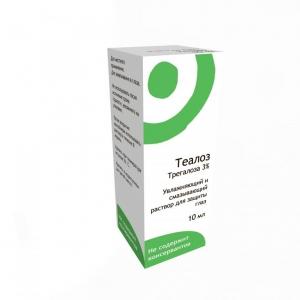 Теалоз р-р увлажняющий и смазывающий для защиты глаз 10мл.