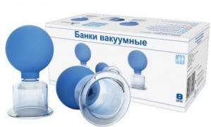 Банки сухие вакуумные полимерно-стеклянные БВ-01 АП №8