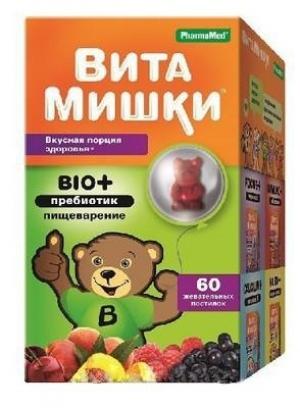 ВитаМишки Bio+ Пребиотик жеват. пастилки №60 (БАД)