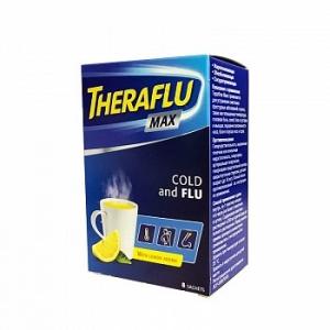 Терафлю Макс от гриппа и простуды пор. д/пр. р-ра вн. пак. 5г №8 Лимон