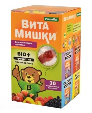 ВитаМишки Bio+ Пребиотик жеват. пастилки №30 (БАД)