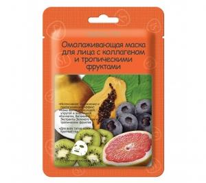 СКИНЛАЙТ (223) Маска для лица омолаживающая с тропическими фруктами на ткан.осн. №1