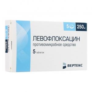 Левофлоксацин-Вертекс табл.п.о. 250мг. №5 - купить | Цены, наличие, инструкция | Интернет-аптека Красноярск