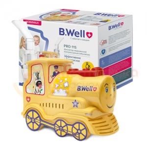 Ингалятор B.WELL PRO-115 компрессорный Паровозик (детский)